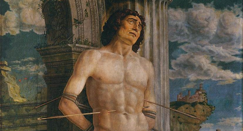 Is martyrdom suffering a crisis? (Andrea Mantegna, St. Sebastian, circa 1480; Source: Wikimedia Commons, PD-Old-100).