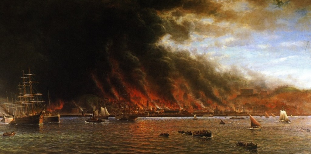 It's merely a disaster. Don't freak out, you're Catholic (William Coulter, San Francisco Fire, 1906; Source: Wikimedia Commons, PD-US-Before-1923).
