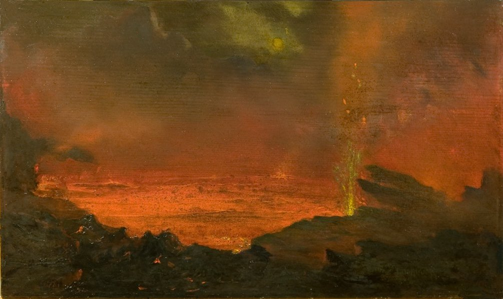 Lake of Fire (David Howard Hitchcock, Lake of Fire, 1883; Source: Wikimedia Commons, PD-Old-Before 1923).