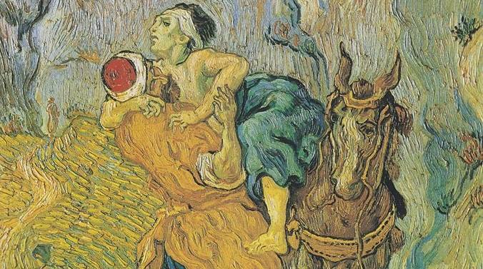 Hospitality is at the root of the biblical vision of the world (Van Gogh, The Good Samaritan (after Delacroix), 1890; Source: Wikimedia Commons, PD-Old-100).