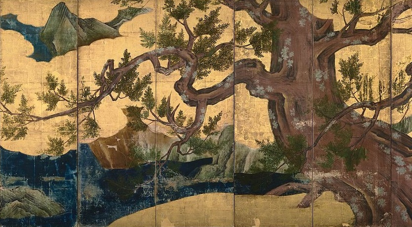 Doing this weekly list gives me an excuse to post random beauty like this (Kano Eitoku, Cypress Trees, 1590; Source: Wikimedia Commons, PD-Old-100).