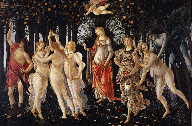 Could spring be ominously around the corner? (Boticelli, Primavera, 1482; Source: Wikimedia Commons, PD-Old-100)