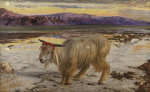 (William Holman Hunt, The Scapegoat, 1854)