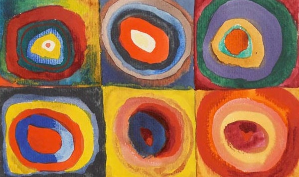 What do you do about all them academic circles not getting along, staying in their boxes? (Kandinsky, Color Study – Squares with Concentric Circles detail, 1913; Source: Wikimedia Commons, PD-AuthorDeath-70) .