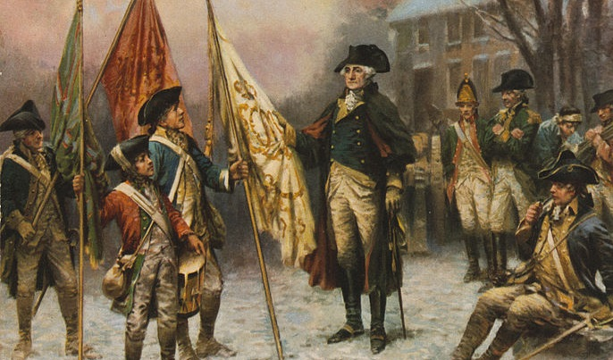 688px-Percy_Moran,_Washington_inspecting_the_captured_colors_after_the_battle_of_Trenton_cph.3g11107