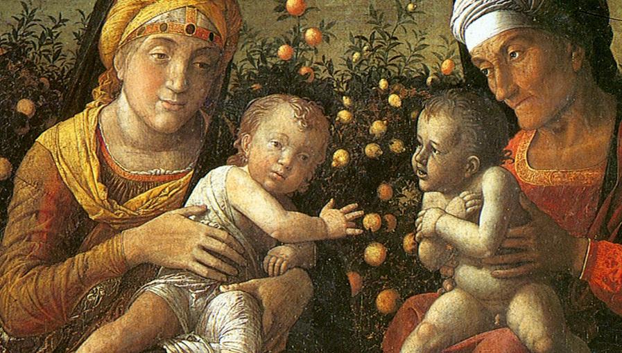 Mantegna,_sacra_famiglia_e_famiglia_del_Battista,_mantova