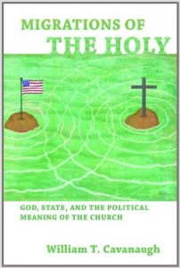America and Christianity floating away from each other toward their own notions of the holy.