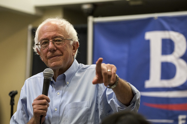 Does this man look like a totalitarian? (Source: Flickr; Author: Phil Roeder; Title: Bernie Sanders for President, CC by 2.0)