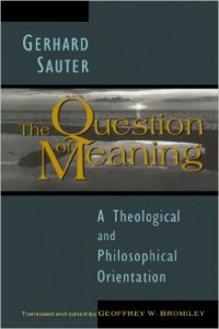 gerhard sauter question of meaning