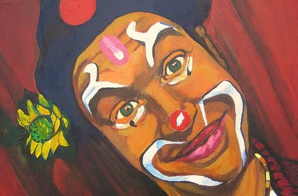 Author: jyjou; Title; le clown, mime et fleur!; Source Flickr, CC by SA 2.0)