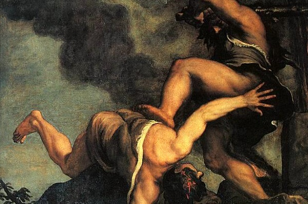 (Titian, Cain and Abel [detail], 1490; Source: Wikimedia, PD-Old-100)