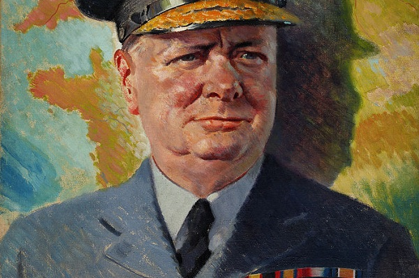 (Anon., Winston Churchill in RAF uniform, c. 1940; Wikimedia, PD)