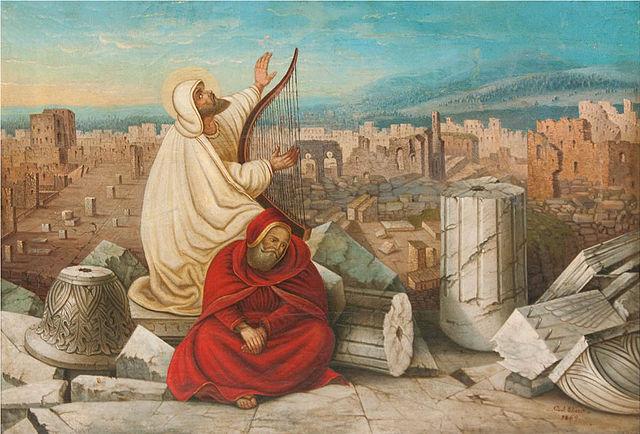 (Carl Ebert, The Destruction of Jerusalem, 1869; Wikimedia, PD-Old-100)
