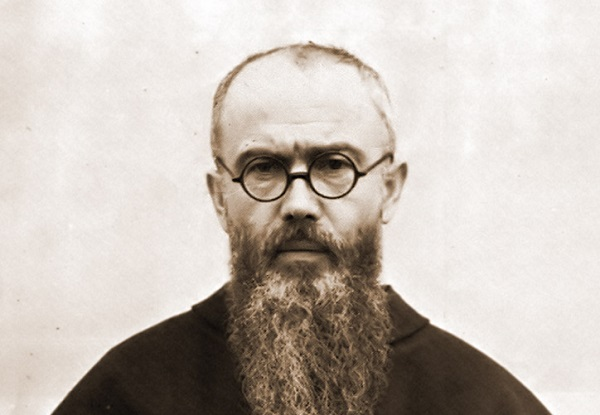 (Fr. Maximilian Kolbe in 1936, author unknown; Wikipedia, PD-anonymous)