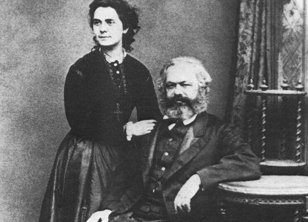 (Author unknown, Karl and his daughter Jenny Marx, 1869; Wikimedia, PD-Old-100)
