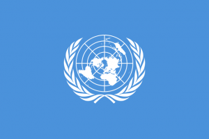 (United Nations Flag; Source: Wikimedia, PD-UN-Before-1987)