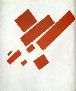 (Kazimir Malevich [Kazimierz Malewicz], Suprematist Painting: Eight Red Rectangles, 1915; Source: Wiki Commons, PD-Before-1923)