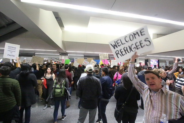 (SFO Muslim Ban Protest by Quinn Morton; Source: Flickr, CC by 2.0)