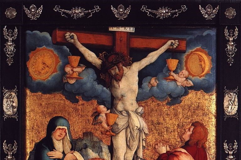 The Good = Evil + Time (Messkirch Master, Donaueschinger Crucifixion, 1530; Source: Wiki Commons, PD-Old-100)
