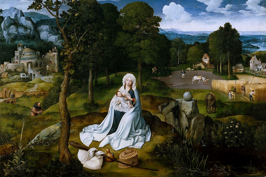 (Joachim Patinir, Rest on the Flight to Egypt, c. 1520; Source: Wiki Commons, PD-Old-100)