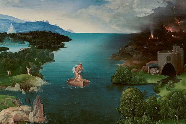 Why must we choose between God and the American Dream? (Joachim Patinir, Crossing the River Styx, c. 1480; Source: Wiki Commons, PD-Old-100).