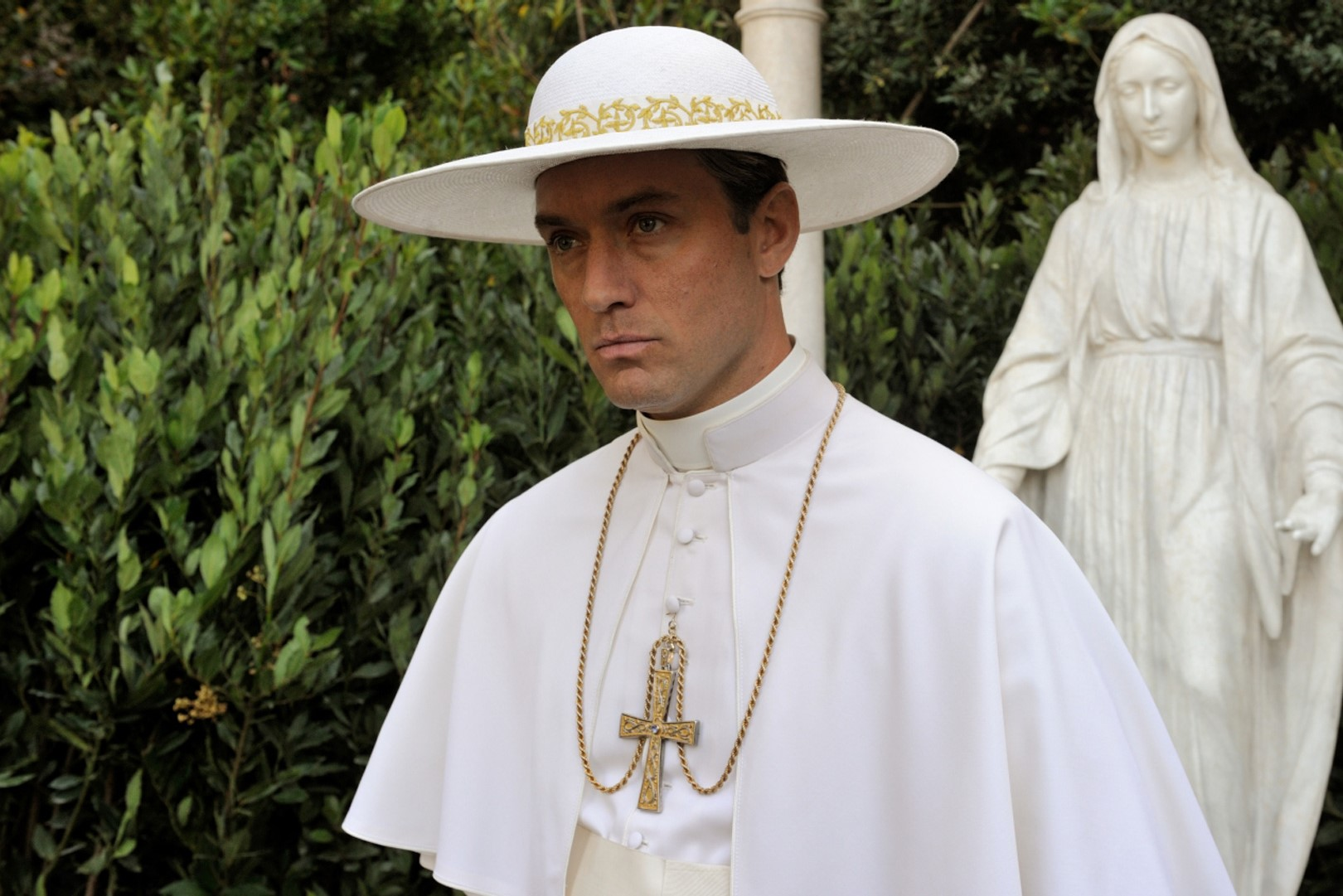 (Pius XIII in The Young Pope, Source: HBO show website, Fair Use).