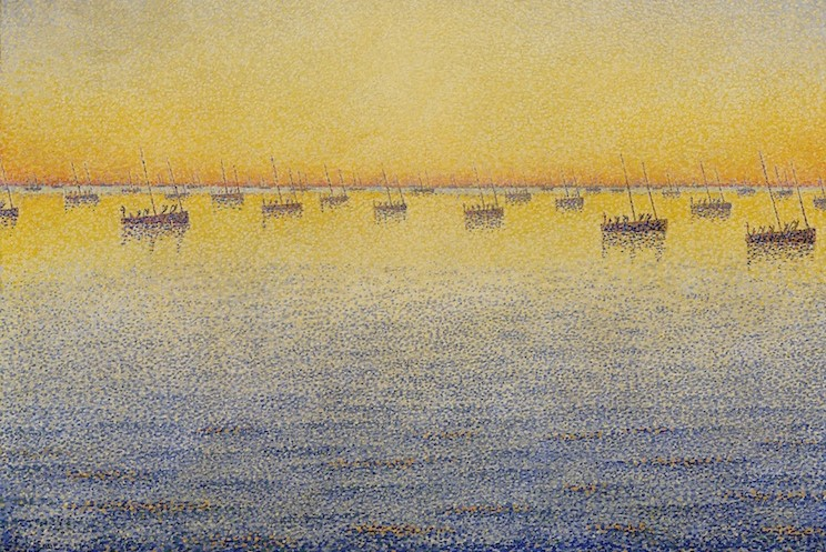 (Paul Signac, Concarneau - Op. 211, 1881; Source: Wikimedia, PD-Old-100).