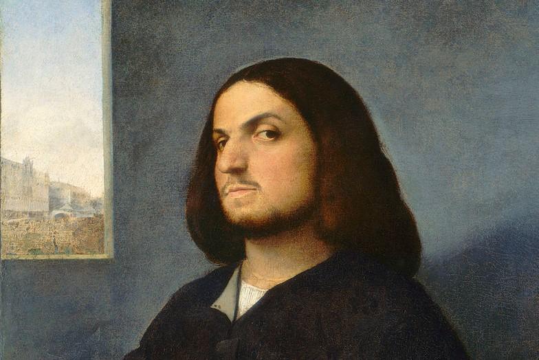 (Titian, Portrait of a Venetian Nobleman, 1507; Source: Wiki, PD-Old-100).
