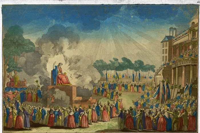 (Anon., Festival of the Supreme Being, Date 1794; Source: Wiki Commons, PD-Old-100).