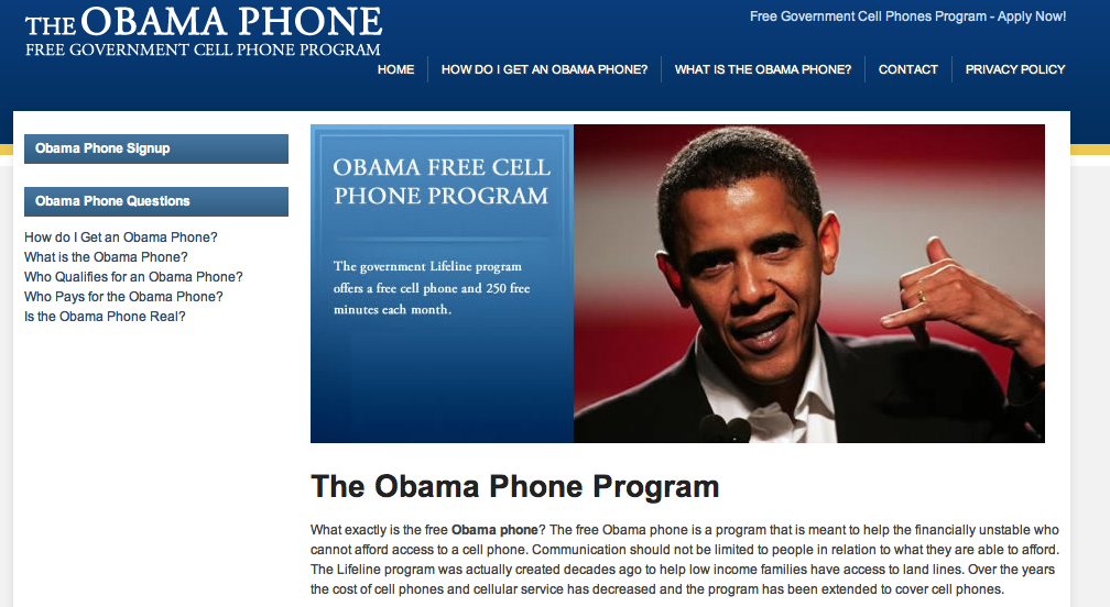 The Shady Ethics of 'The Obama Phone' | Tim Dalrymple