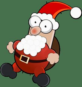 Drunk-looking cartoon Santa
