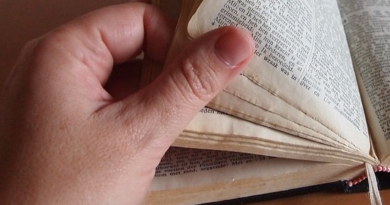 Flipping through bible medium