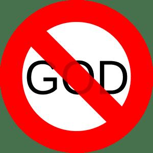 No God sign