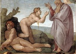 Michelangelo's 'Creation of Eve', located on the ceiling of the Sistine Chapel.