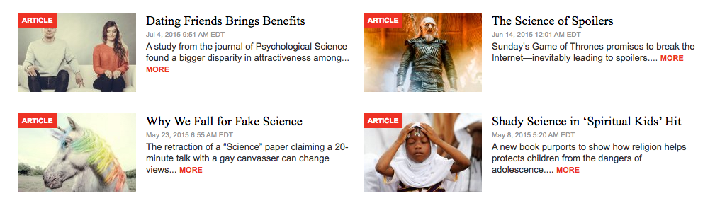 """You know it's sciencey because the titles say """"science"""" a lot"""