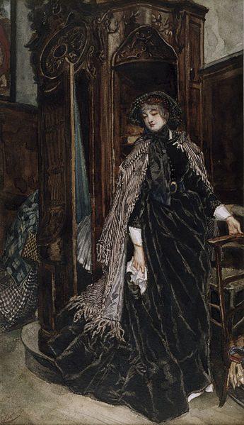 The Confessional by James Tissot , Public Domain