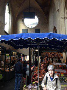 sarlat church market