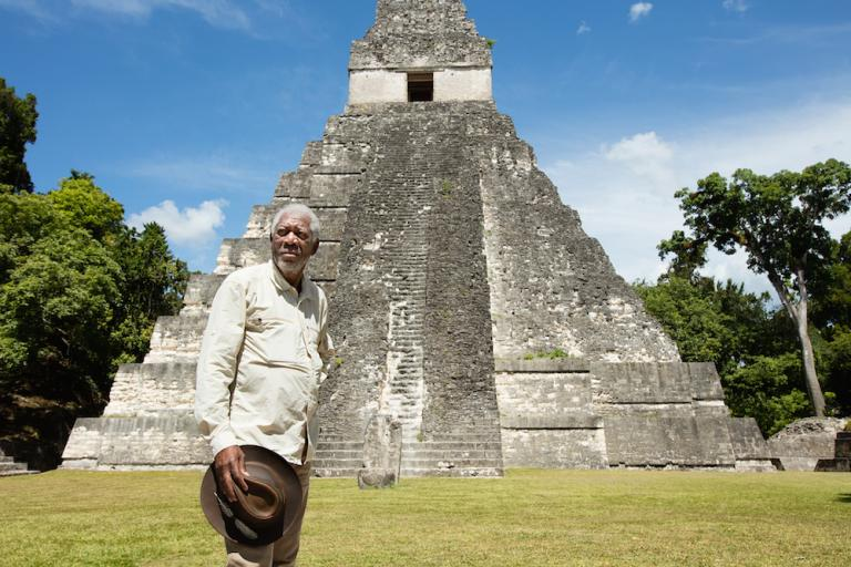 The Story of God with Morgan Freeman filming in Guatemala. (Photo credit:  National Geographic Channels)