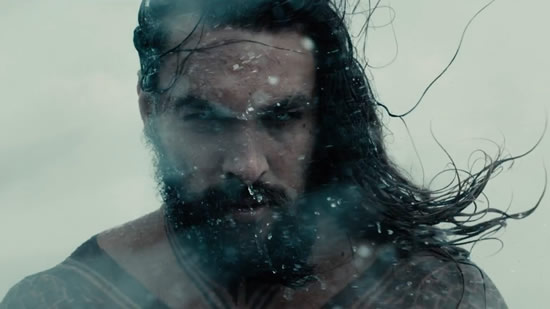 Justice League might not have done everything right, but it knew enough to slap an impressive array of whiskers on its most prominent Atlantean. One question, though: Wouldn't all that hair be, like, a literal drag while swimming? (Jason Momoa in Justice League, photo from the Warner Bros. trailer)
