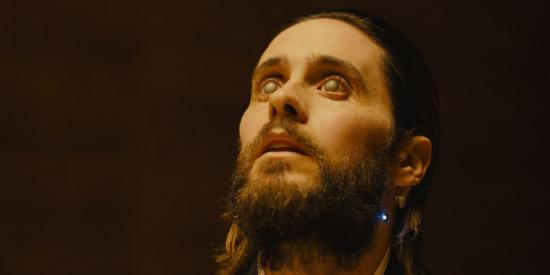 When it comes to replicant manufacturing, Mr. Wallace is top dog. But as the creator of synthetic life, he sees himself as more than just a businessman. No, as I've mentioned before, he considers himself to be akin to God. No wonder he sports a Jesus-like beard. (Jared Leto in Blade Runner 2049, photo courtesy Warner Bros.)