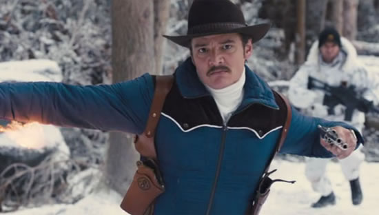 Mustaches have had a tough go of it as late, but Whiskey—channeling a Cannonball Run-era Burt Reynolds with his oh-so-cool soup strainer—reminds us all how awesome they can be. (Pedro Pascal in Kingsman: The Golden Circle, photo courtesy 20th Century Fox)