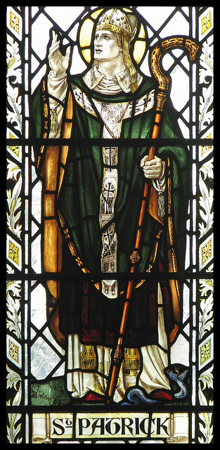 St. Patrick Expels the Snakes, by Lawrence OP. Flickr Commons. The famous tale of ridding Ireland of serpents is actually a legend, originating several centuries after the real Patrick.