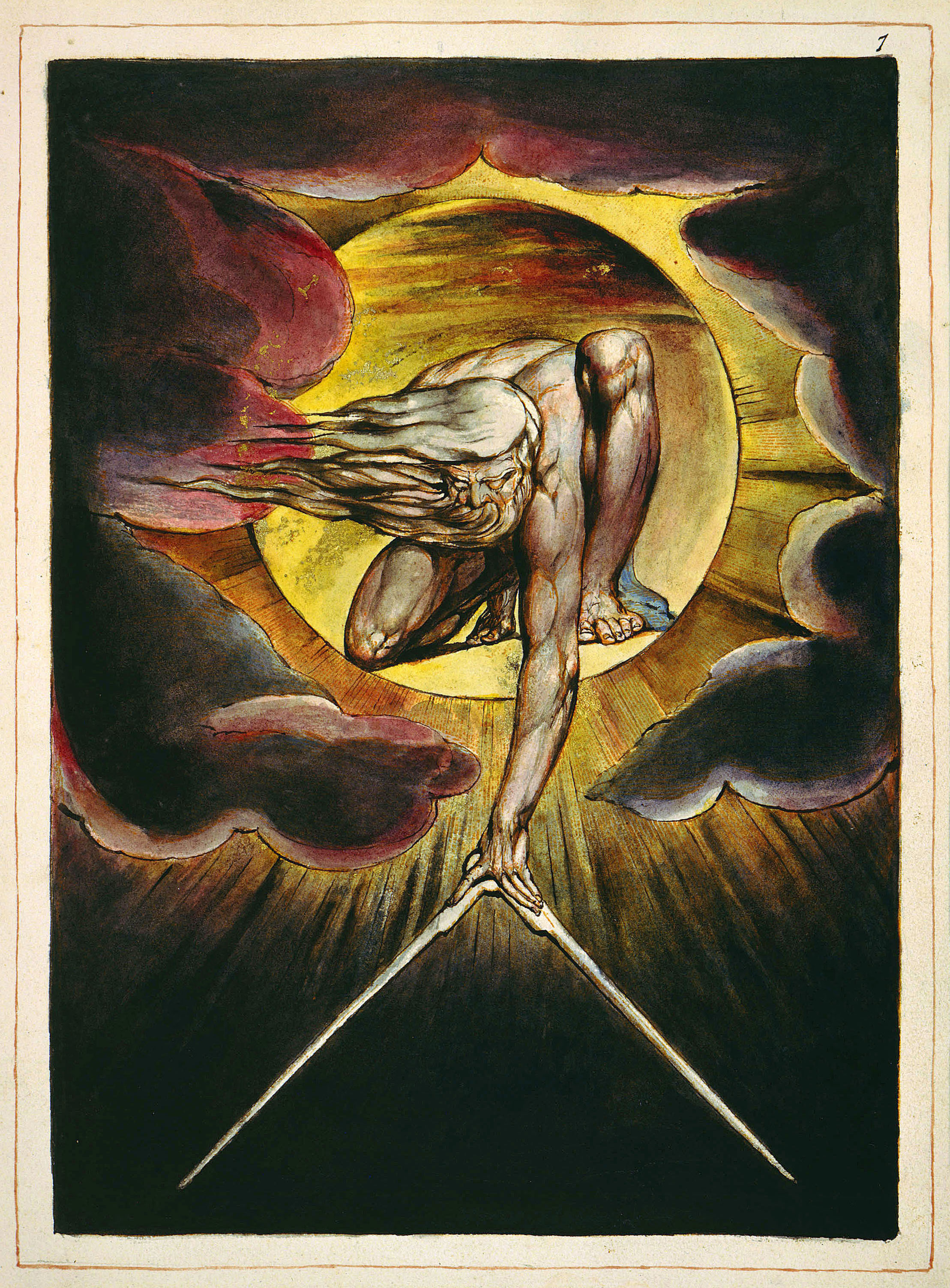 Ancient of Days, by William Blake. Wikipedia Commons.