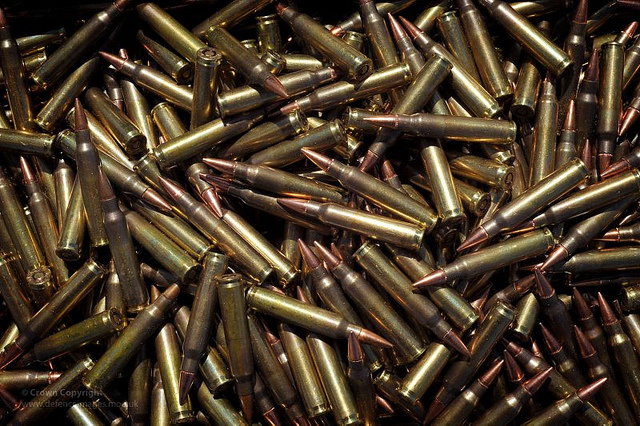 5.56mm Ammunition Rounds for SA80 Rifle, by UK Ministry of Defence. Flickr Commons.