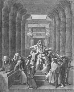 Joseph Makes Himself Known to his Bretheren, by Gustave Dore. Wiki Commons.