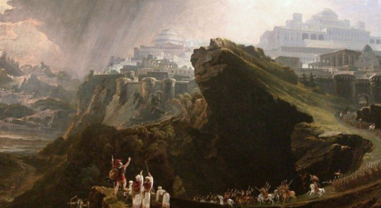 Joshua Commanding the Sun to Stand Still Upon Gibeon, by John Martin. Wiki Commons.