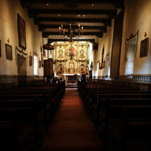 The chapel at the San Juan Capistrano Mission is a beautiful homage to faith.