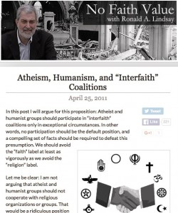 Ron Lindsay speaks out about Interfaith