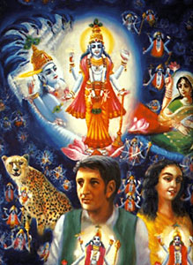 Concept art depicting the atma's oneness with Paramatma.