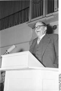 Karl Barth in 1956, photo courtesy of Hans Lachmann via Creative Commons